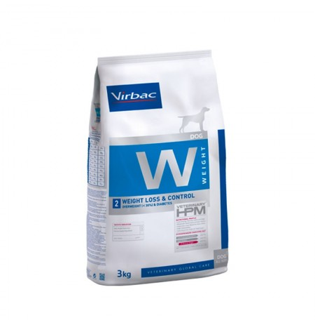 Virbac w2 weight loss & control para perros