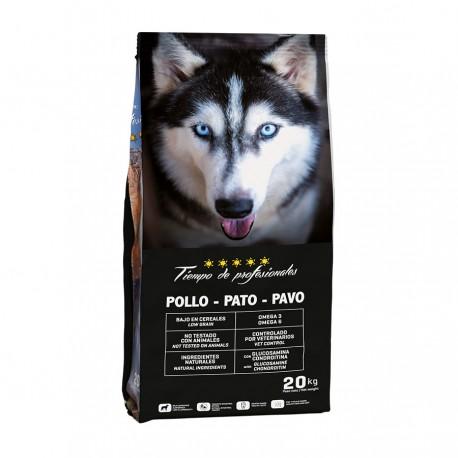 Tiempo de profesionales pollo pato y pavo light low grain para perros