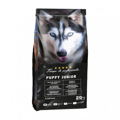 Tiempo de profesionales puppy junior low grain para perros