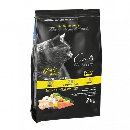 Tiempo de profesionales cat chicken y salmon grain free para gatos adultos