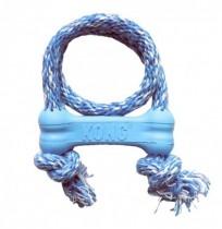 KONG puppy goodie bone con cuerda azul